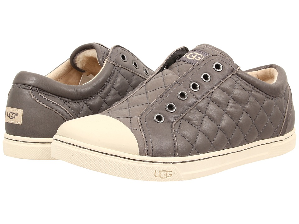 UGG - Jemma Quilted (Granite Leather) Women's Toe Open Shoes