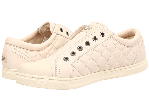 UGG - Jemma Quilted (White Leather) Women