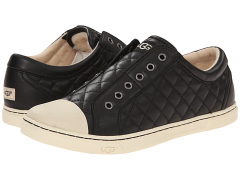 UGG - Jemma Quilted (Black Leather) Women