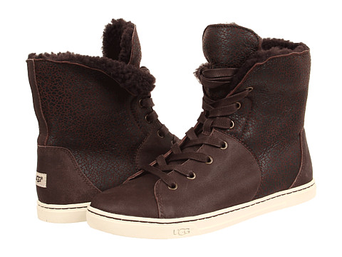 UGG - Croft (Chocolate Twinface/Suede) Women's Lace-up Boots