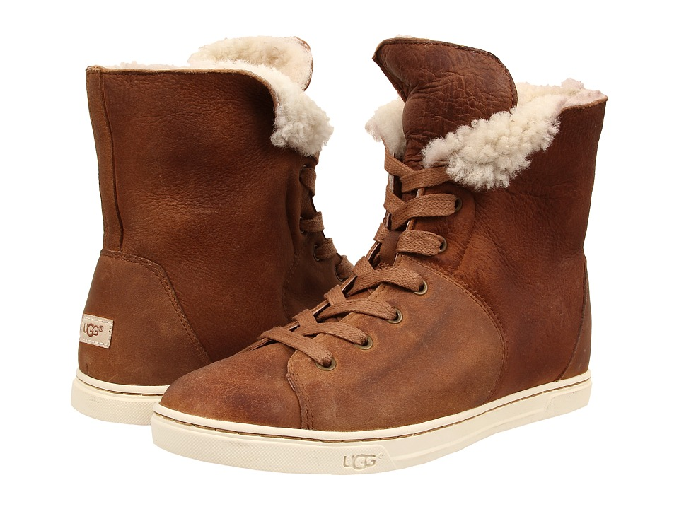 UGG - Croft (Chestnut Twinface/Suede) Women's Lace-up Boots