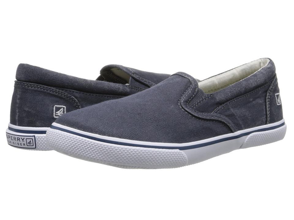 Sperry Top-Sider Kids - Halyard Slip-On (Little Kid/Big Kid) (Navy) Boys Shoes