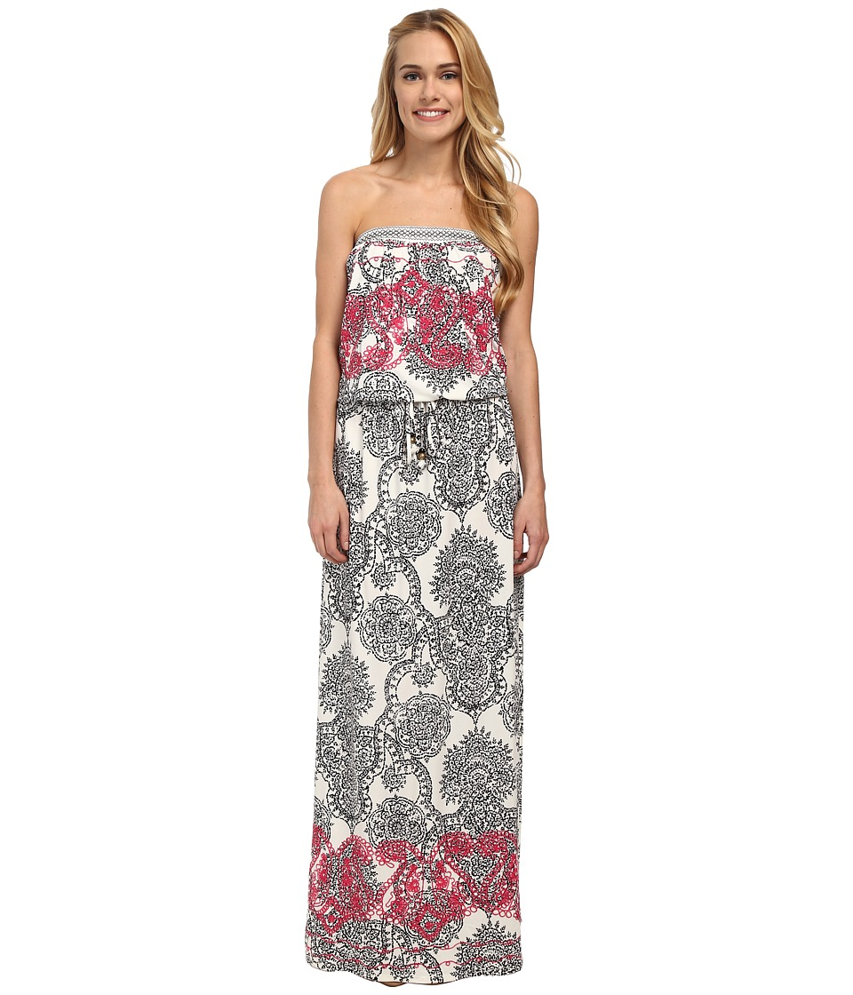 Hale Bob Haute Boheme Tube Top Maxi Dress (White) Women