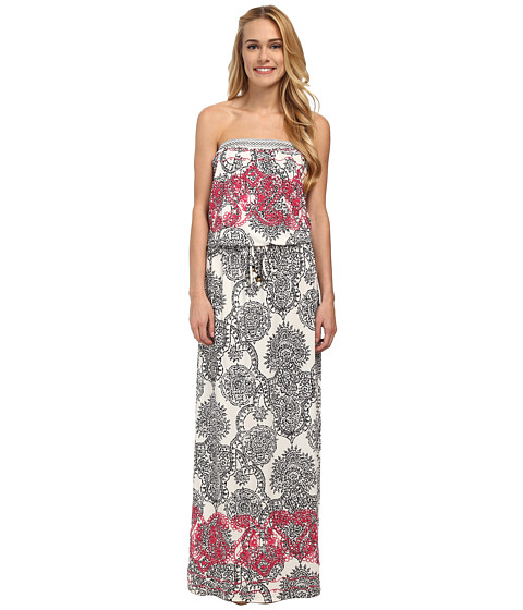 Hale Bob - Haute Boheme Tube Top Maxi Dress (White) Women