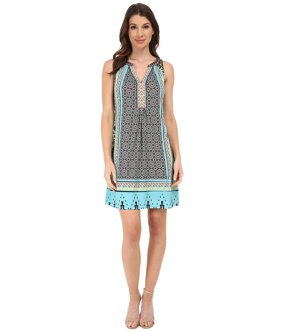 Hale Bob - Native Mosaic Dress (Teal) Women's Dress