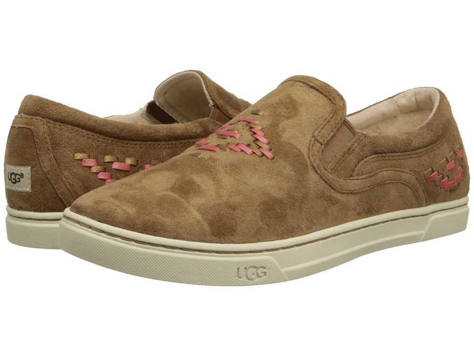 UGG - Fierce Rustic Weave (Chestnut Suede) Women's Slip on Shoes