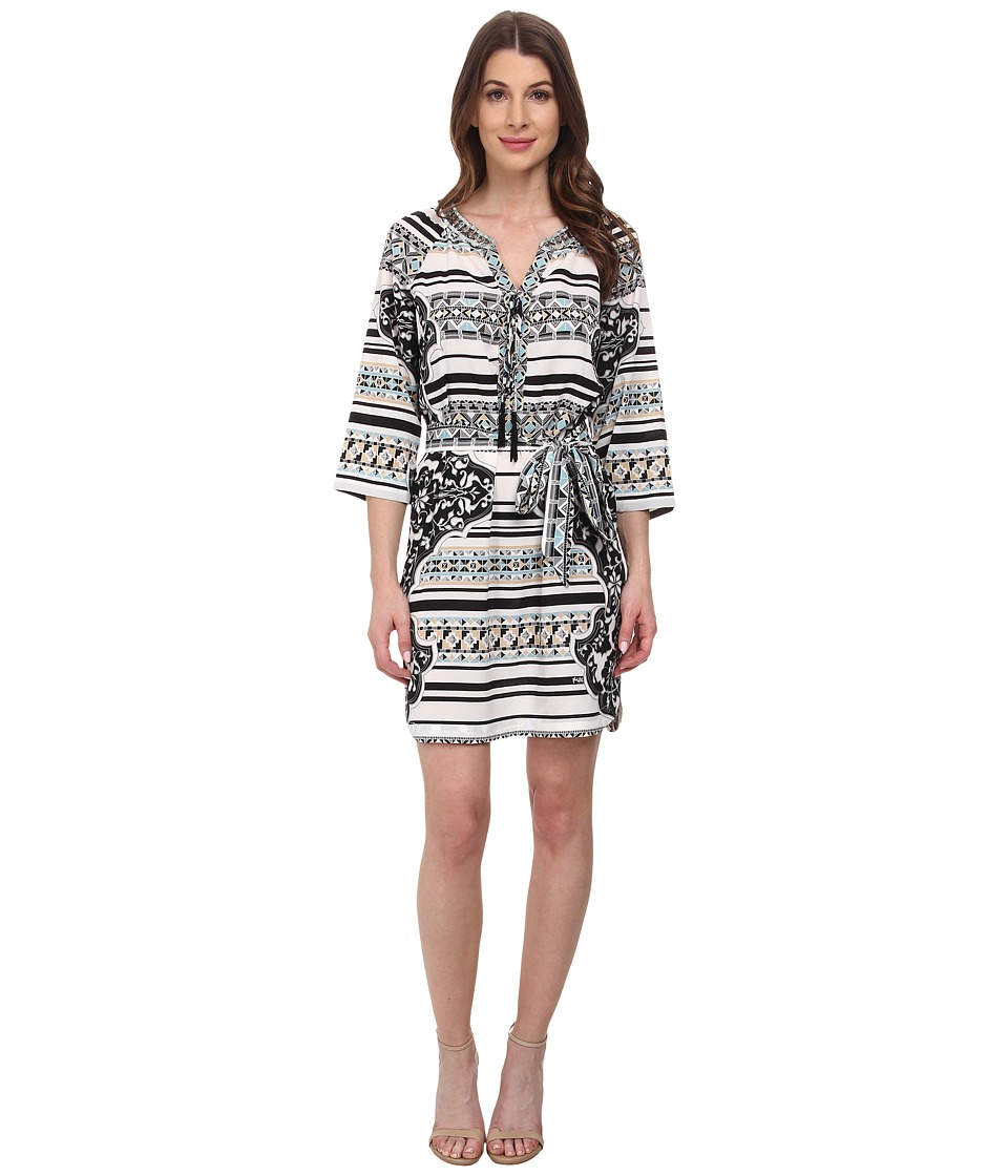 Hale Bob - Psychadelic Summer Shirt Dress (Black) Women's Dress