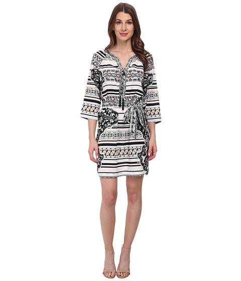 Hale Bob - Psychadelic Summer Shirt Dress (Black) Women's Dress