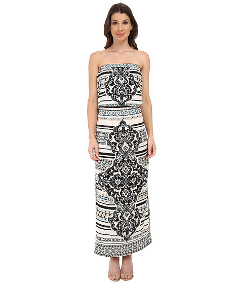 Hale Bob - Psychadelic Summer Tube Top Dress (Black) Women's Dress
