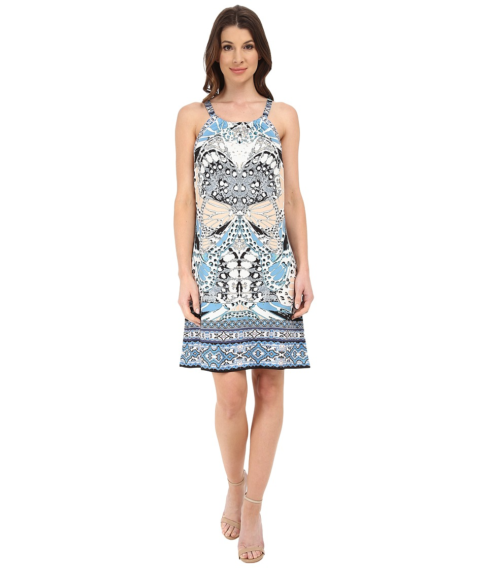 Hale Bob - Butterfly Faux Halter Dress (Gray) Women's Dress