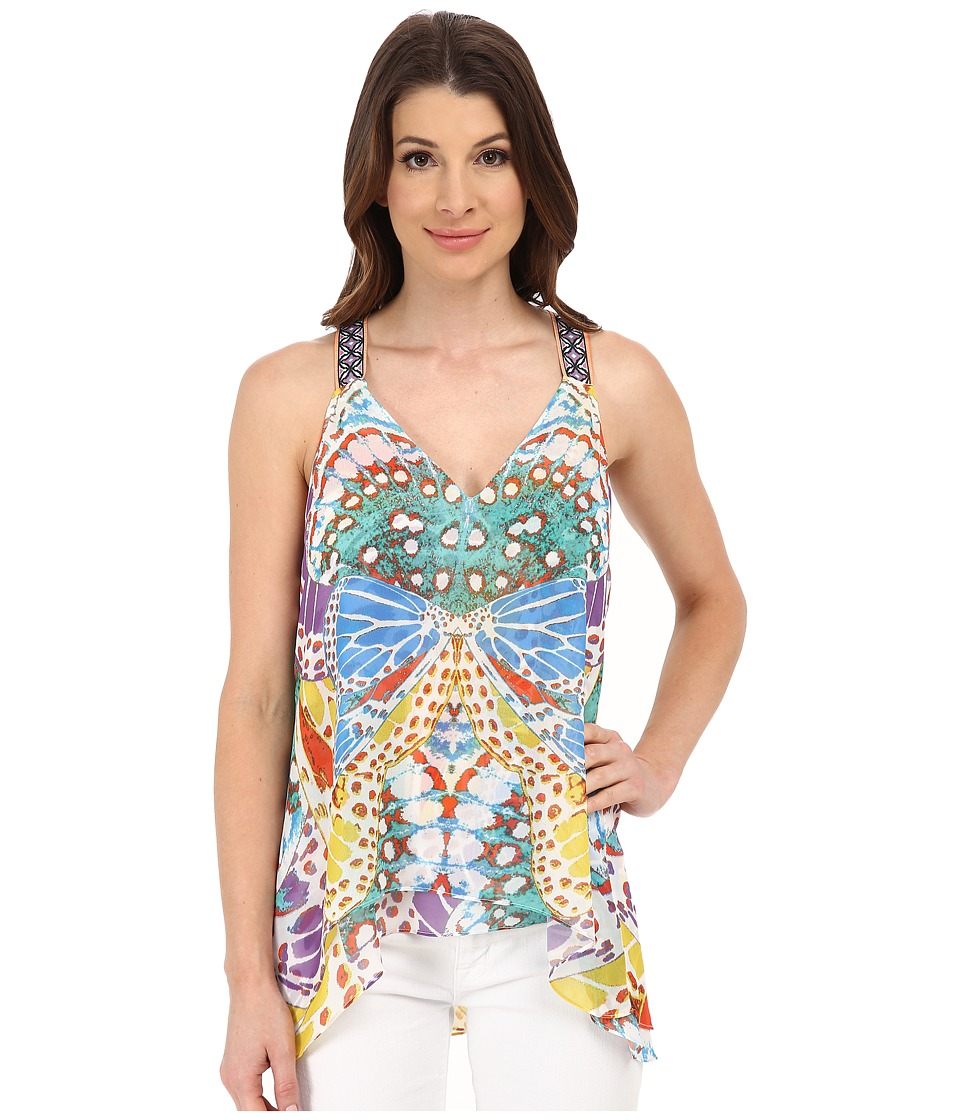 Hale Bob - Butterfly Tank Top (Yellow) Women's Sleeveless