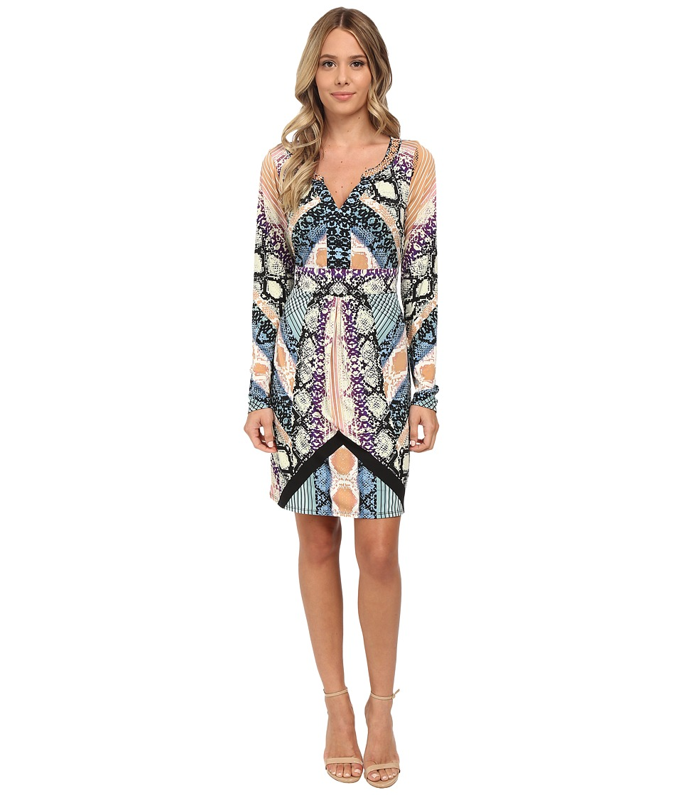 Hale Bob - Garden Of Eden Long Sleeve Dress (Blue) Women's Dress
