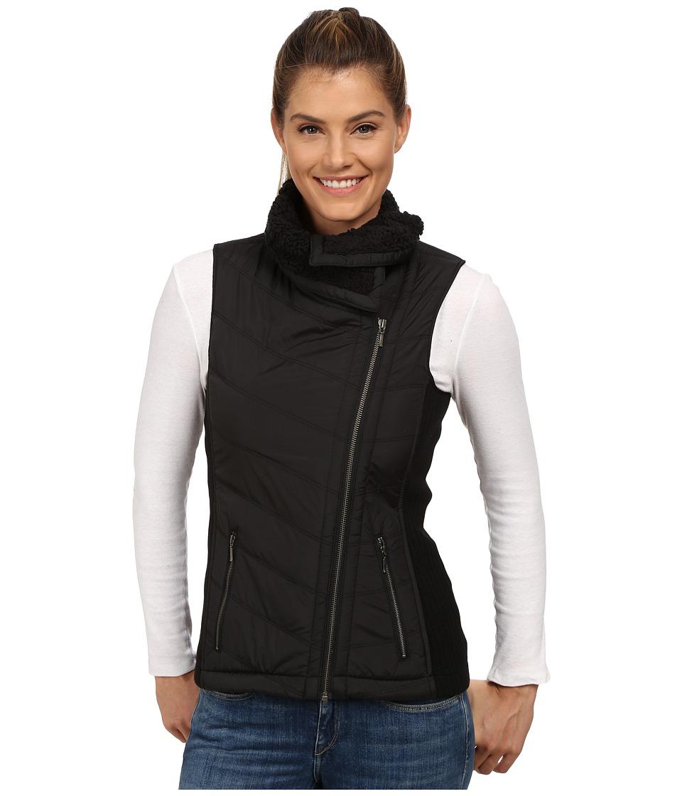 Prana - Diva Chevron Quilt Vest (Black) Women's Vest