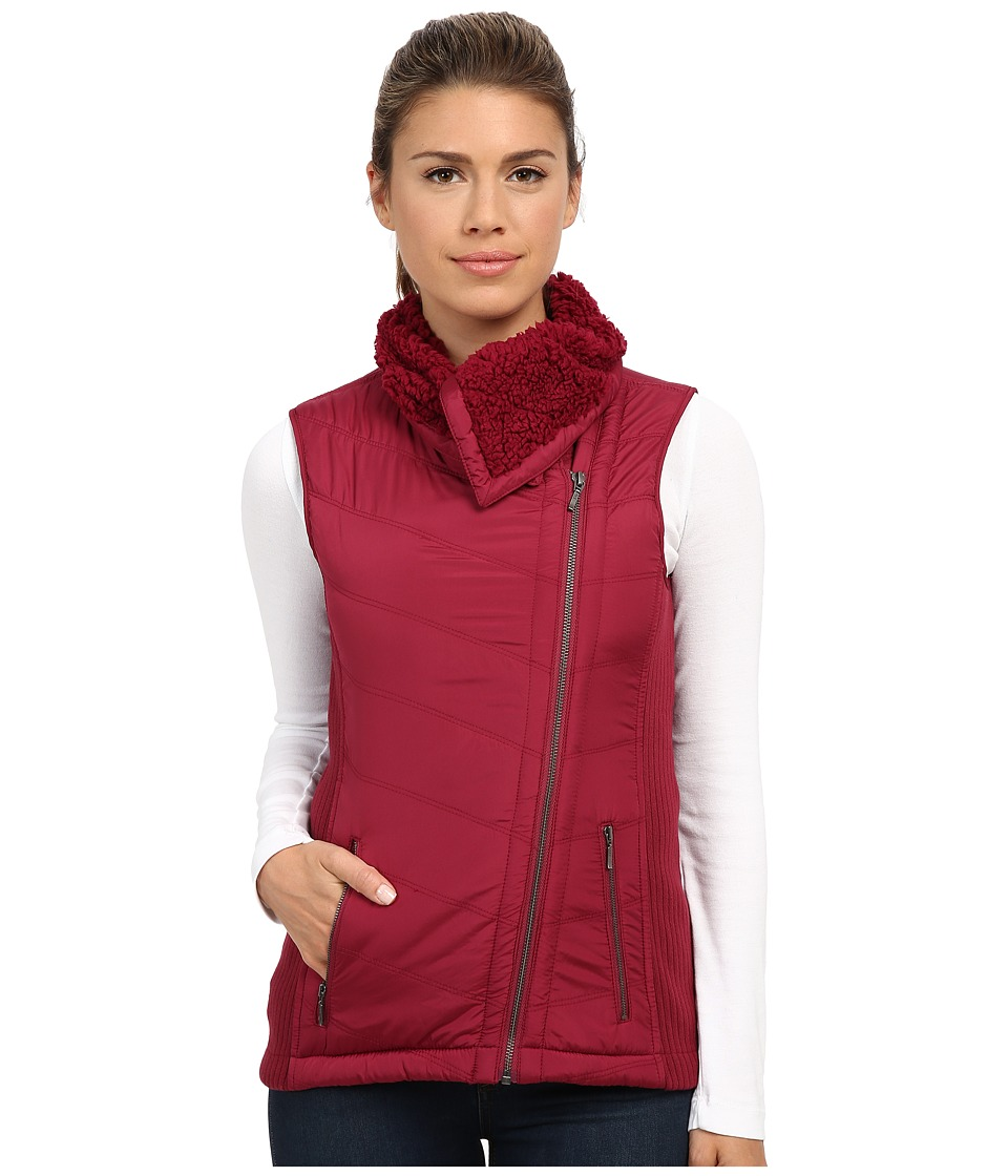 Prana - Diva Chevron Quilt Vest (Plum Red) Women's Vest