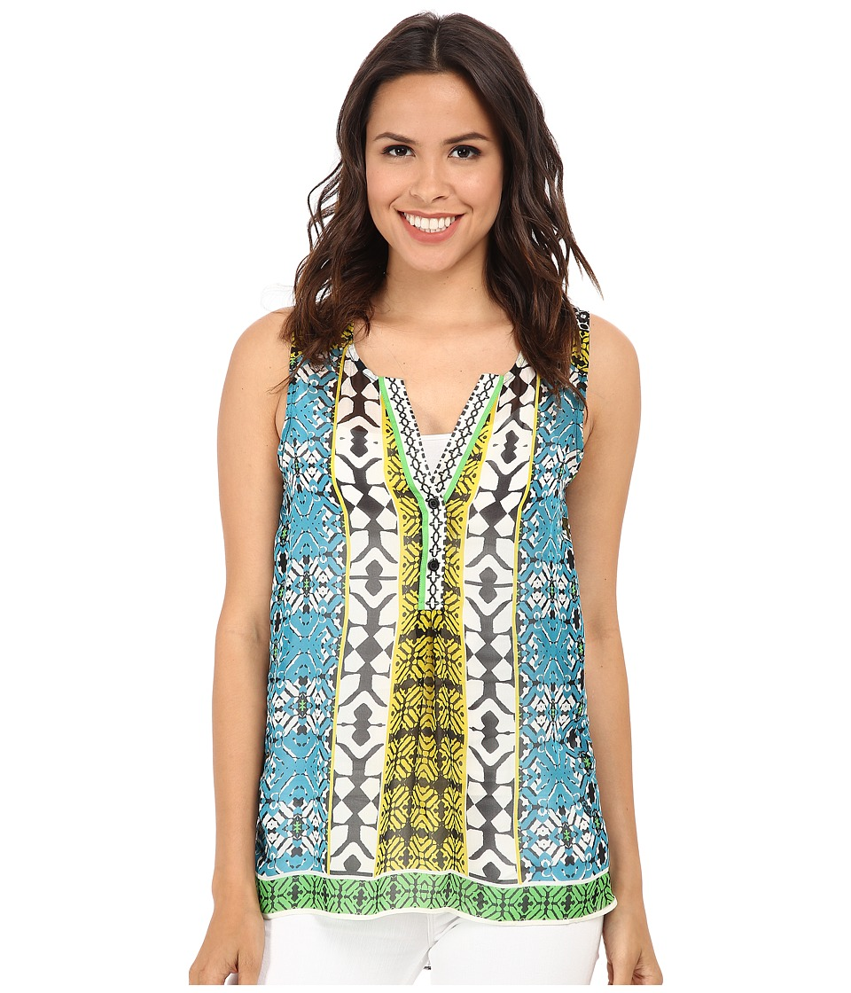 Hale Bob - Boho Chic Sleeveless Top (Teal) Women