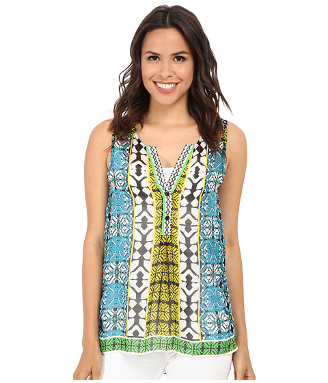 Hale Bob - Boho Chic Sleeveless Top (Teal) Women's Sleeveless