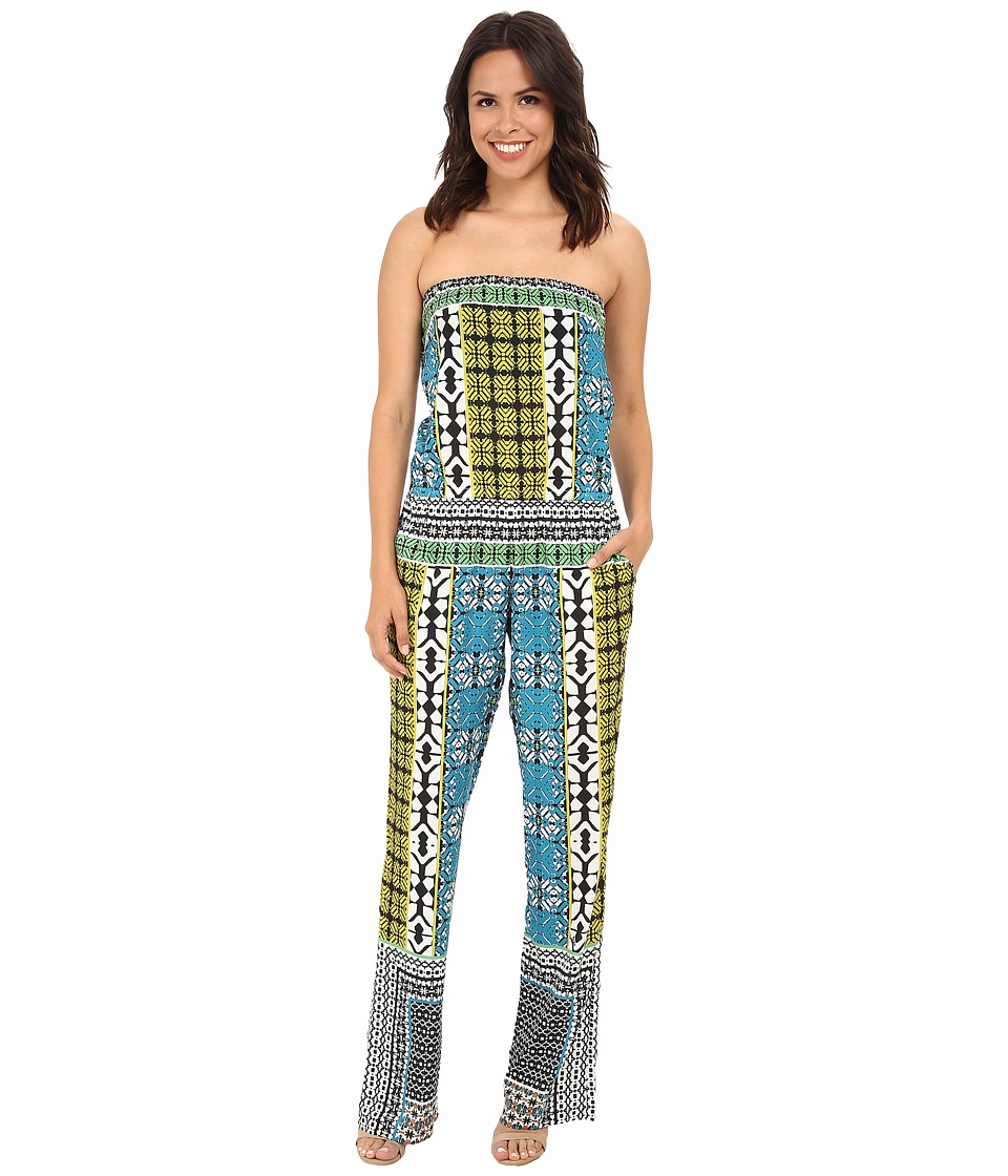 Hale Bob - Boho Chic Tube Top Jumpsuit (Teal) Women's Jumpsuit & Rompers One Piece