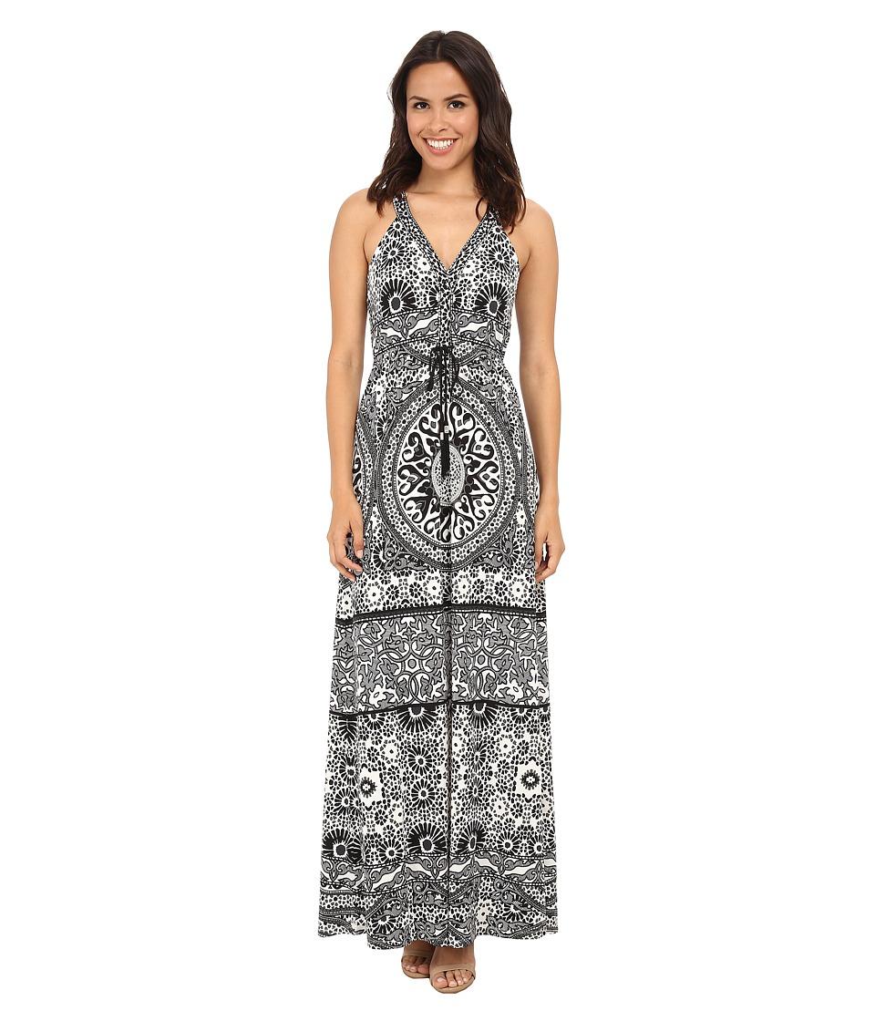 Hale Bob - From Morroco w/ Lux Maxi Dress (Black/White) Women's Dress