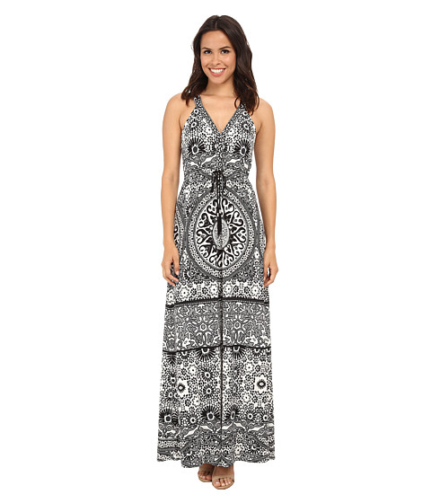 Hale Bob - From Morroco w/ Lux Maxi Dress (Black/White) Women