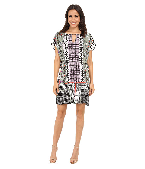 Hale Bob - Boho Chic Flutter Sleeve Dress (Purple) Women's Dress