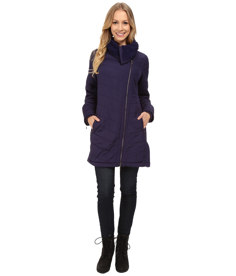 Prana - Diva Long Jacket (Indigo) Women's Coat