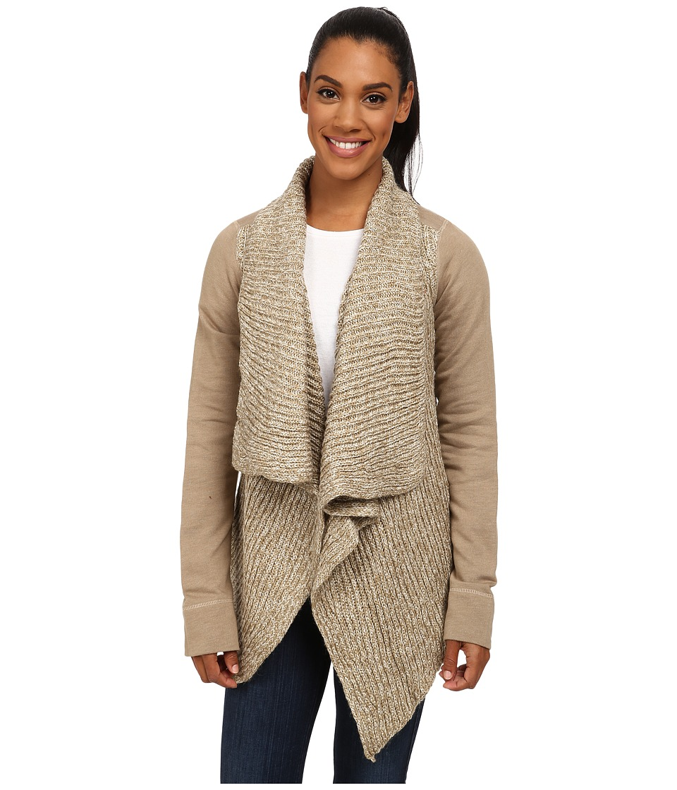 Prana - Demure Cardigan (Dark Khaki) Women's Sweater