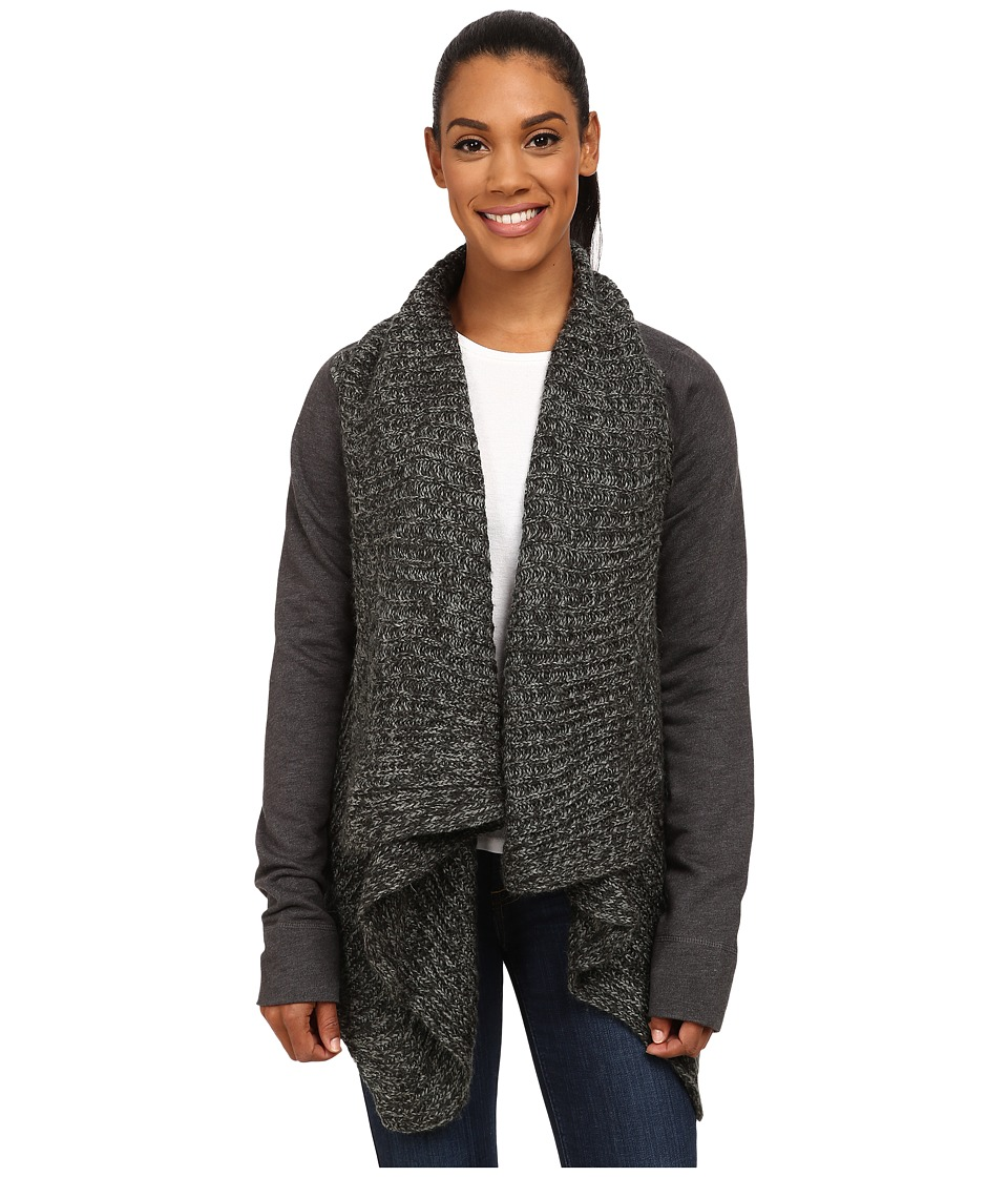 Prana - Demure Cardigan (Charcoal) Women's Sweater
