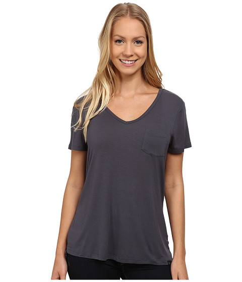 Prana - Hildi Tee (Coal) Women's Short Sleeve Pullover