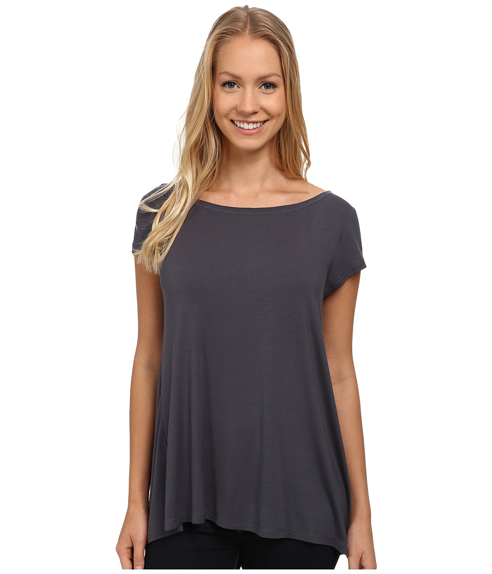 Prana - Cosmo Top (Coal) Women's Short Sleeve Pullover