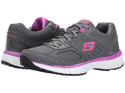 SKECHERS - Agility - Ramp Up (Charcoal/Purple) Women