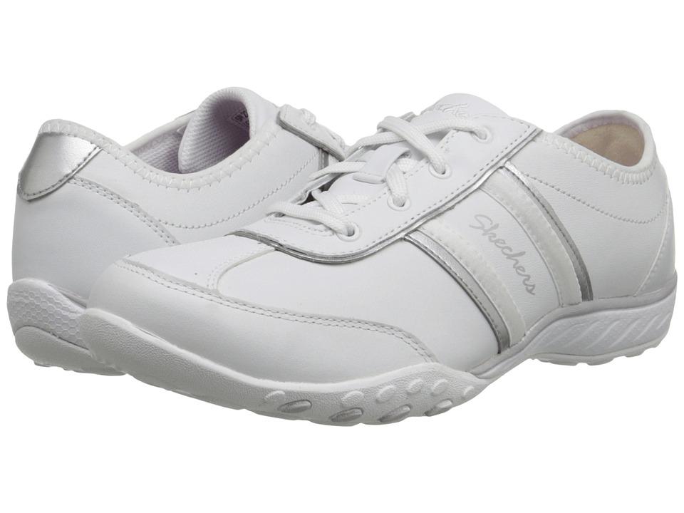 SKECHERS - Breathe-Easy - Little Gem (White/Silver) Women