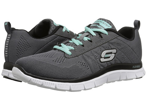 SKECHERS - Flex Appeal - Sweet Spot (Charcoal/Black) Women's Shoes