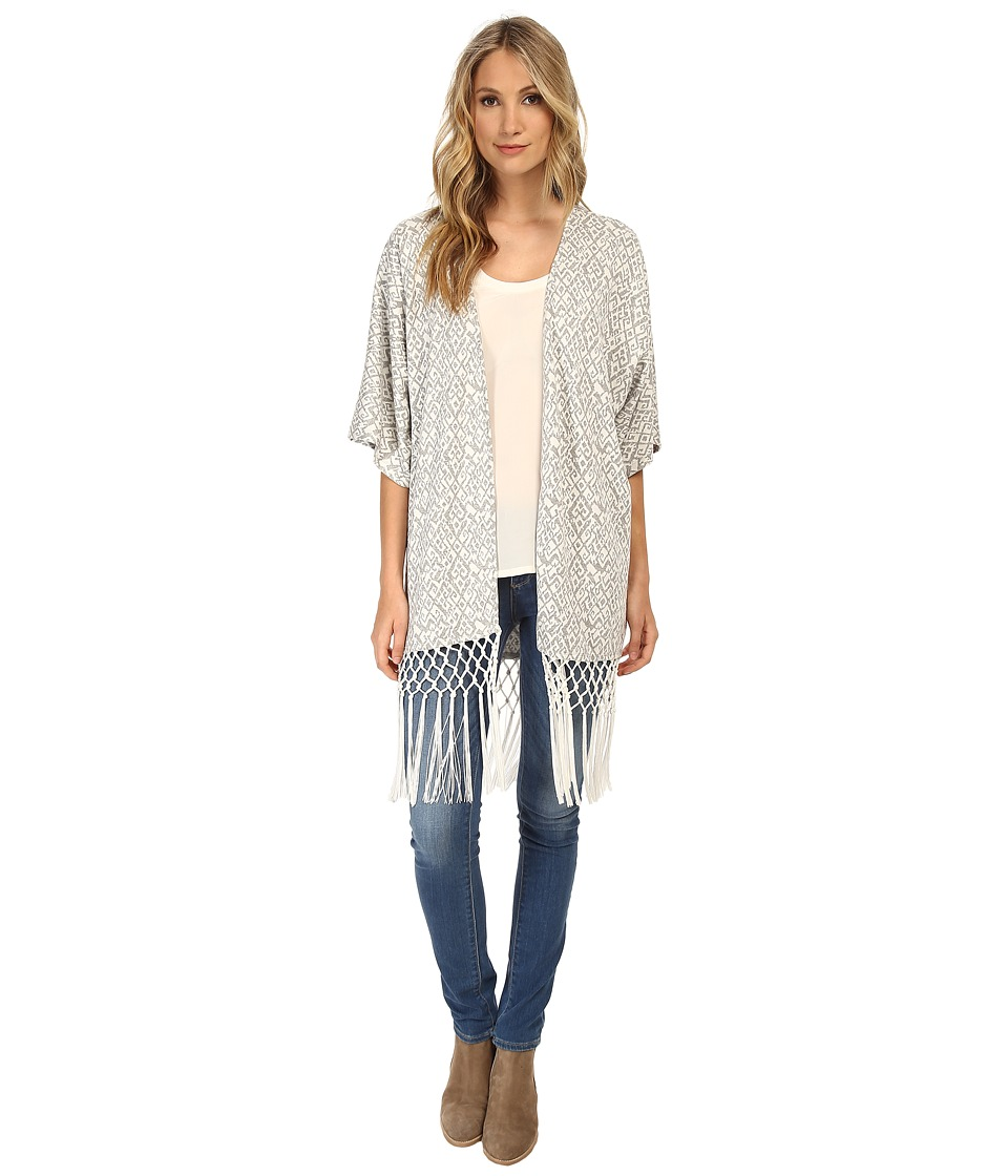 Tart - Holly Wrap (Grey Ikat) Women's Blouse