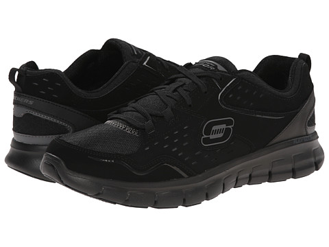 SKECHERS - Synergy - A Lister (Black) Women's Lace up casual Shoes