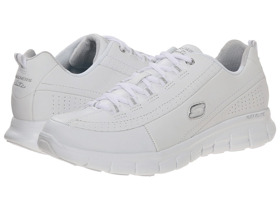 SKECHERS - Synergy - Elite Status (White) Women's Lace up casual Shoes