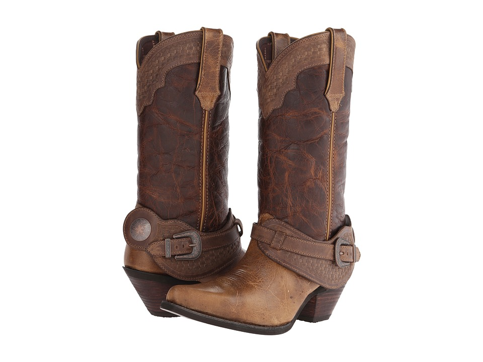 Durango - Crush 12 Spur Strap (Tan/Bridle) Cowboy Boots