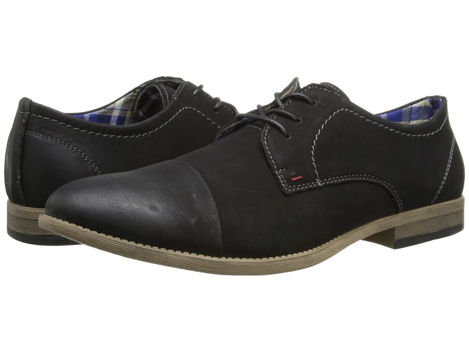 Steve Madden Fontane (Black Leather) Men