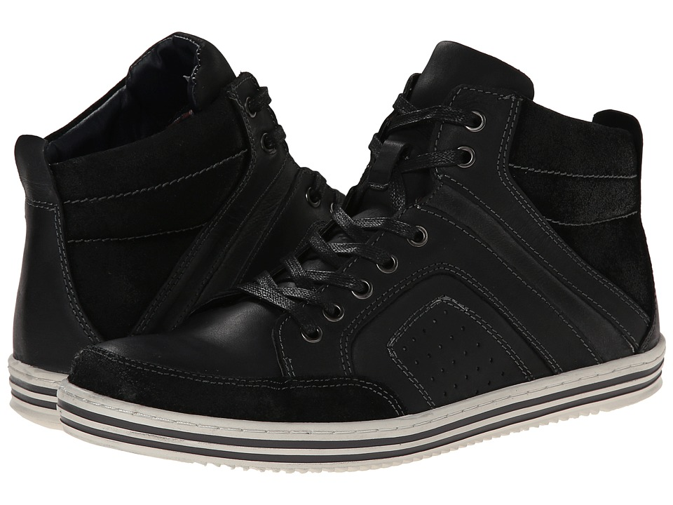 Steve Madden - Ristt (Black Leather) Men