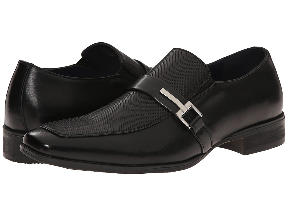 Steve Madden Seemore (Black Leather) Men
