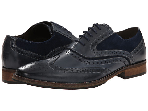 Steve Madden - Pauly (Navy Leather) Men's Lace up casual Shoes