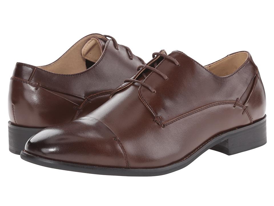 Steve Madden Lewwy (Brown Leather) Men