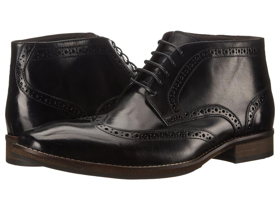 Steve Madden Parcell (Black Leather) Men