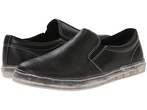 Steve Madden - Height (Black Distressed) Men's Slip on Shoes