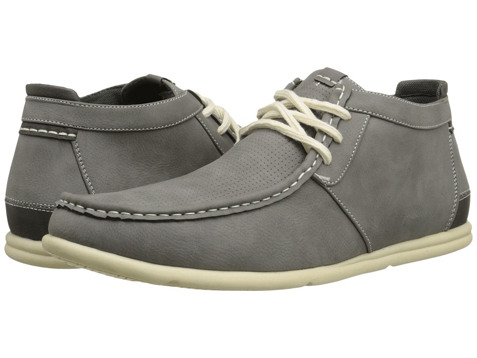 Steve Madden - Realm (Grey Nubuck) Men's Lace up casual Shoes