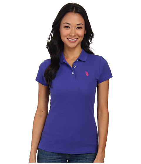U.S. POLO ASSN. - Solid Small Pony Polo (Purple/Pink) Women