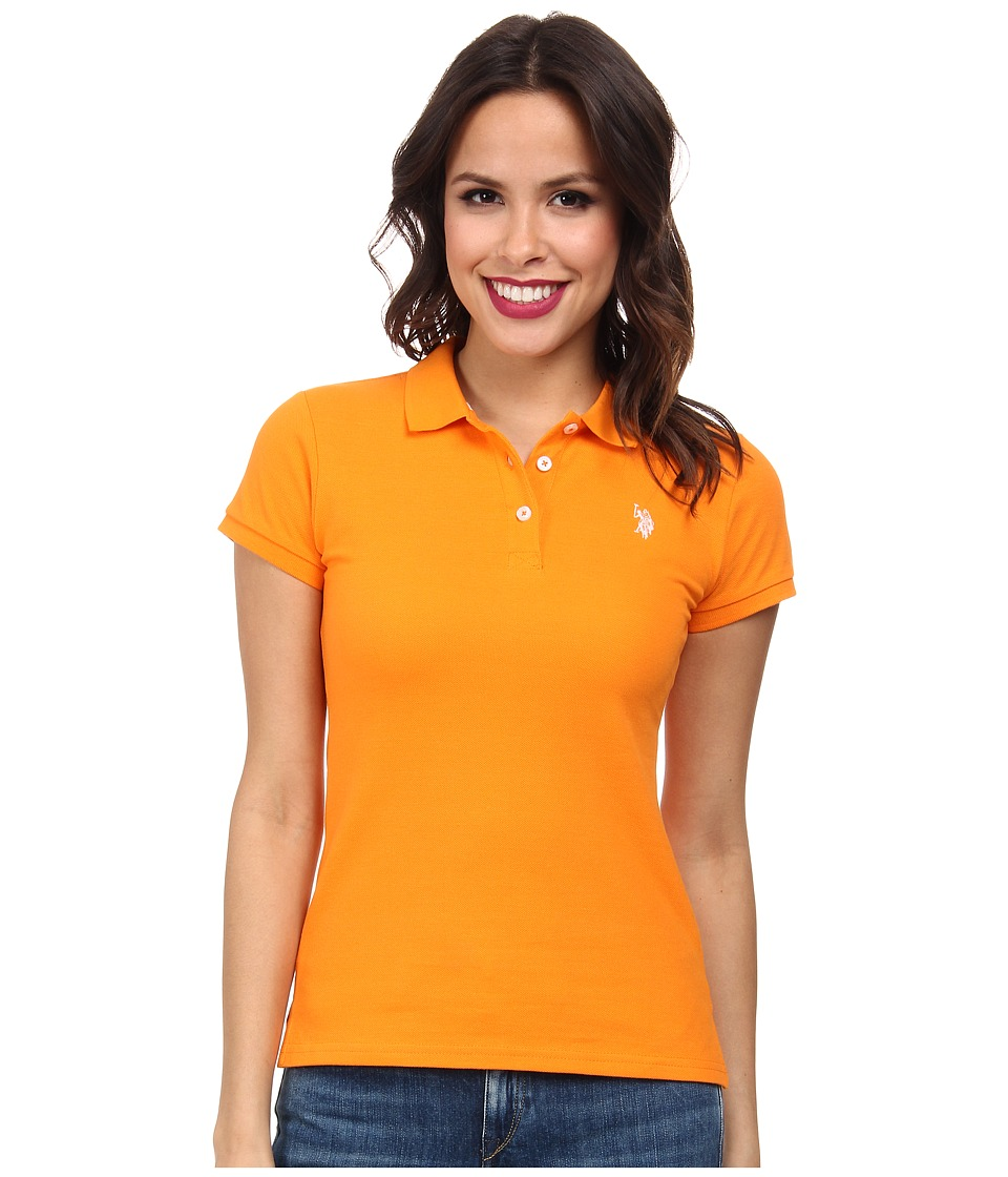 U.S. POLO ASSN. - Solid Small Pony Polo (Orange Popsicle) Women