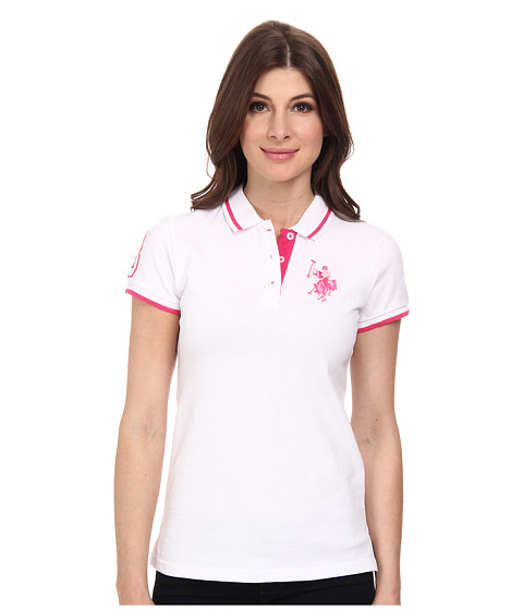 U.S. POLO ASSN. - Solid Pique Polo (Optic White) Women