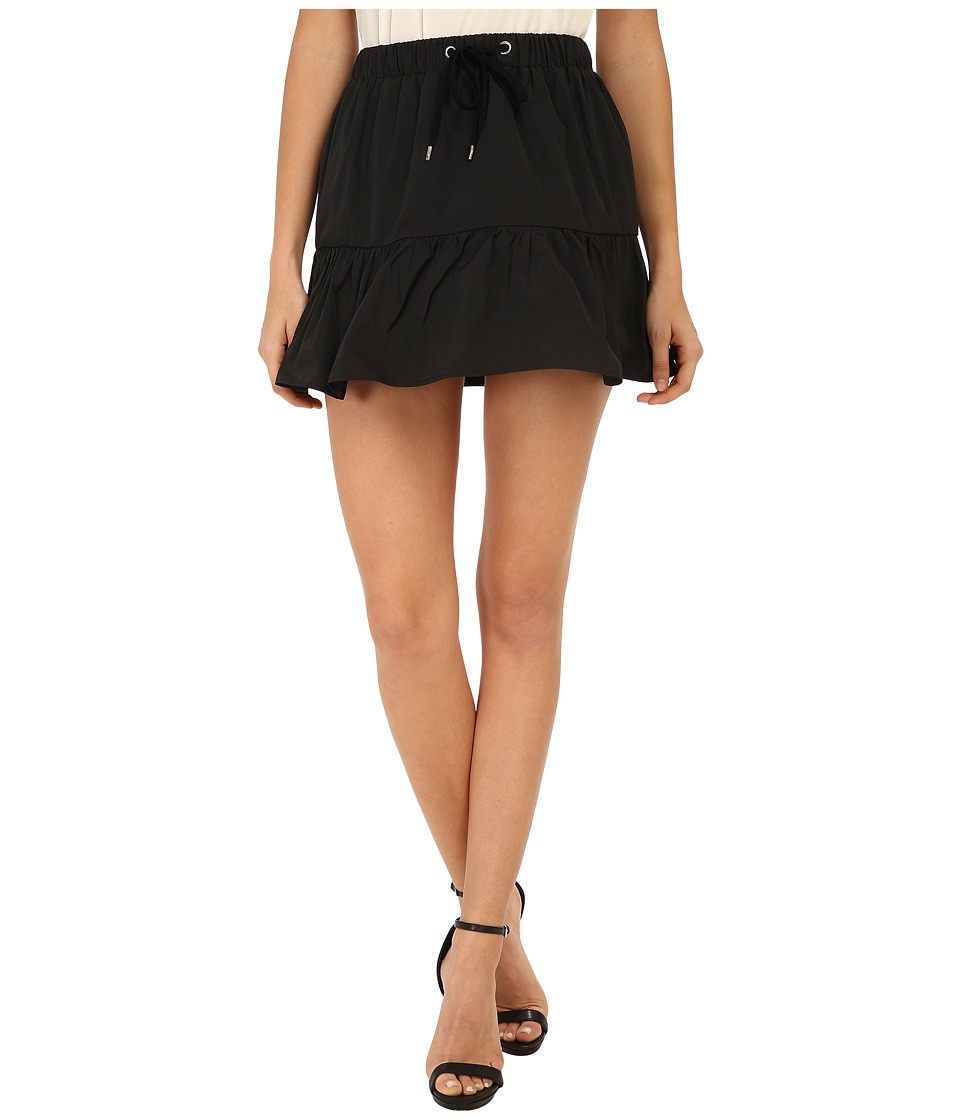 RED VALENTINO - Light Taffeta Skirt (Black) Women's Skirt