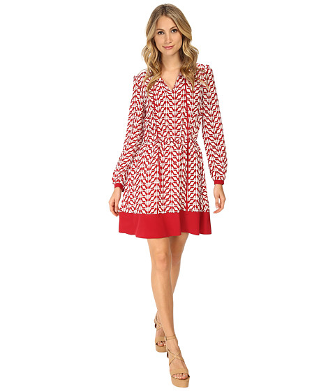 RED VALENTINO - Slipper Print Dress (Ruby) Women