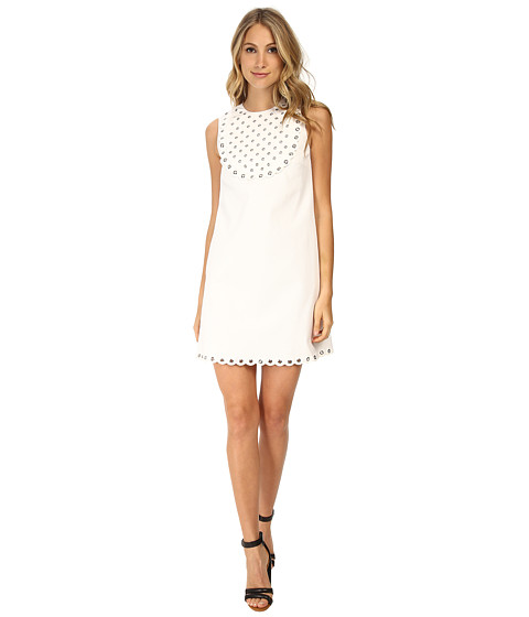 RED VALENTINO - Summer Piquet Dress (White) Women's Dress